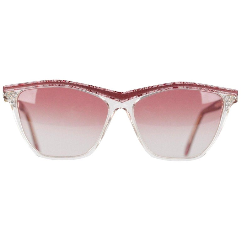 YVES SAINT LAURENT Vintage MINT Sunglasses HYRTHIOS 58mm w/Rhinestones For Sale