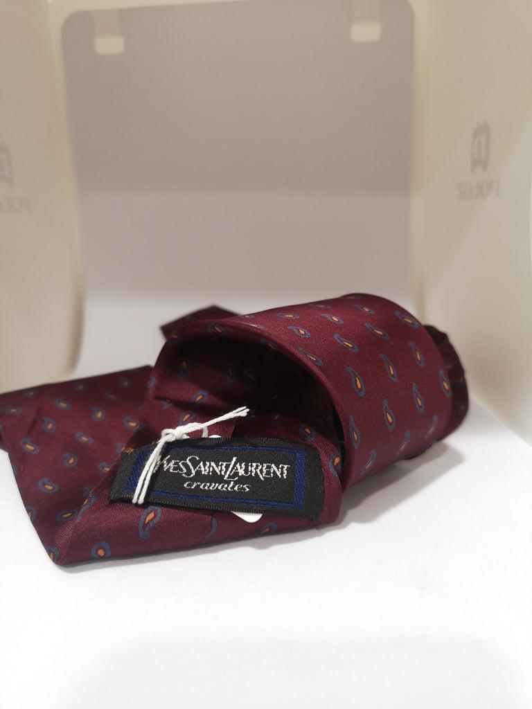 Men's Yves Saint Laurent Vintage multicoloured tie For Sale