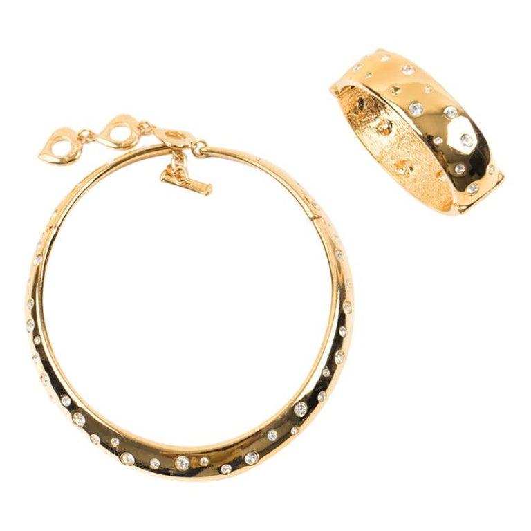 YVES SAINT LAURENT Vintage Necklace And Bracelet Set For Sale