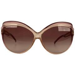 Yves Saint Laurent Vintage Pink Butterfly Oversized Sunglasses 8057
