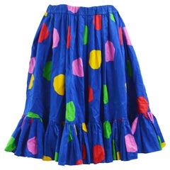 Yves Saint Laurent Vintage Polka Dot Skirt