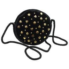 Yves Saint Laurent Vintage Rive Gauche Hearts & Stars Velvet Bag