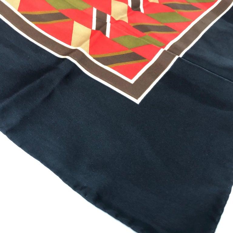 Yves Saint Laurent Vintage Silk Foulard circa 1970 For Sale 1