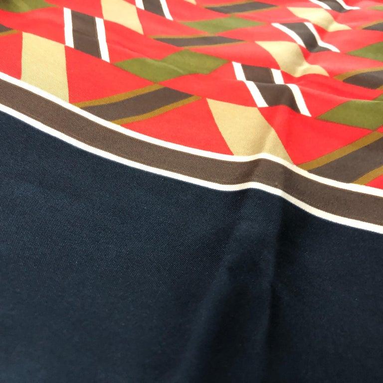 Yves Saint Laurent Vintage Silk Foulard circa 1970 For Sale 2