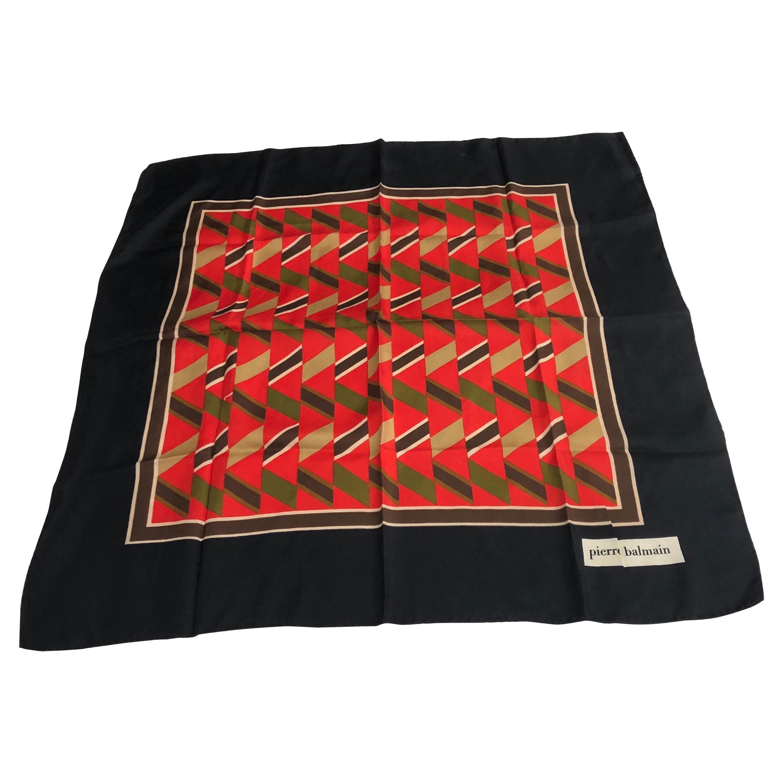 Yves Saint Laurent Vintage Silk Foulard circa 1970