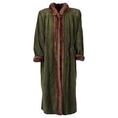 Yves Saint Laurent Vintage Suede Fur Coat