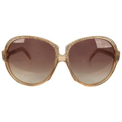Yves Saint Laurent Vintage Sunglasses Glitter Gaude 58mm Oversized