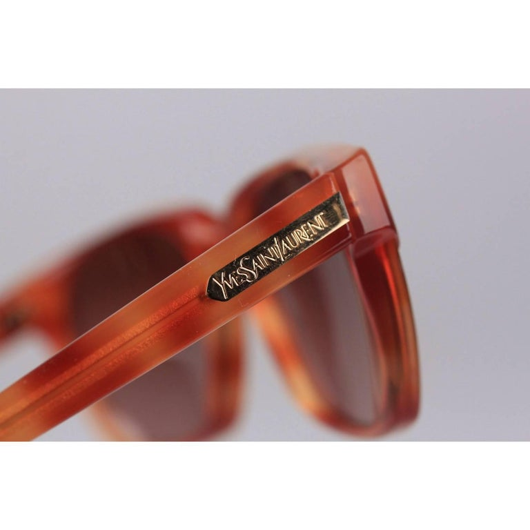 YVES SAINT LAURENT Vintage Sunglasses Phocos 56-16mm New Old Stock In New Condition For Sale In Rome, Rome