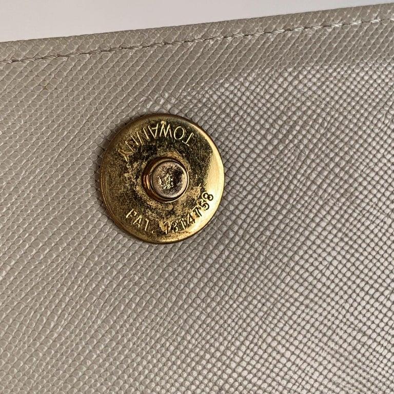 Yves Saint Laurent Vintage White Leather Clutch Bag For Sale 6