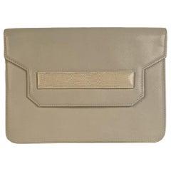 Yves Saint Laurent Vintage White Leather Clutch Bag