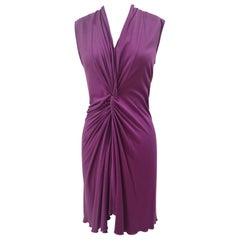 Yves Saint Laurent viscose purple Dress