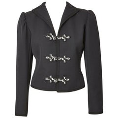 Yves Saint Laurent Wool Gaberdine Cropped Jacket