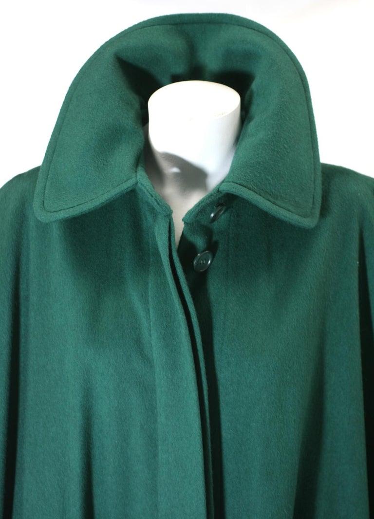 Yves Saint Laurent Wool Melton Cape For Sale 5