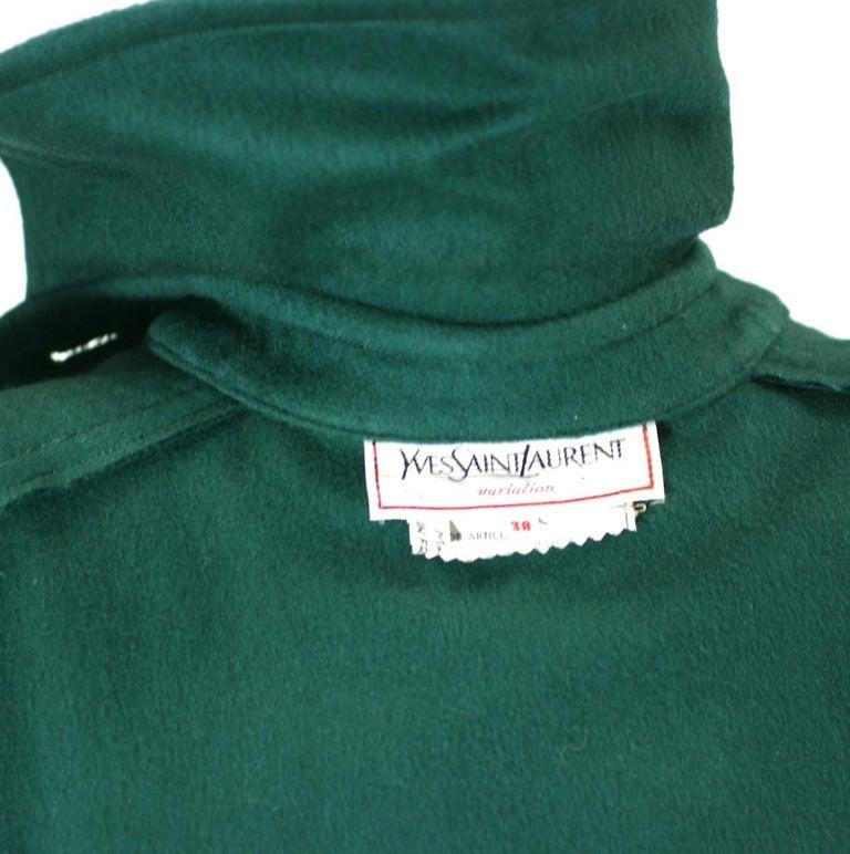 Yves Saint Laurent Wool Melton Cape For Sale 6