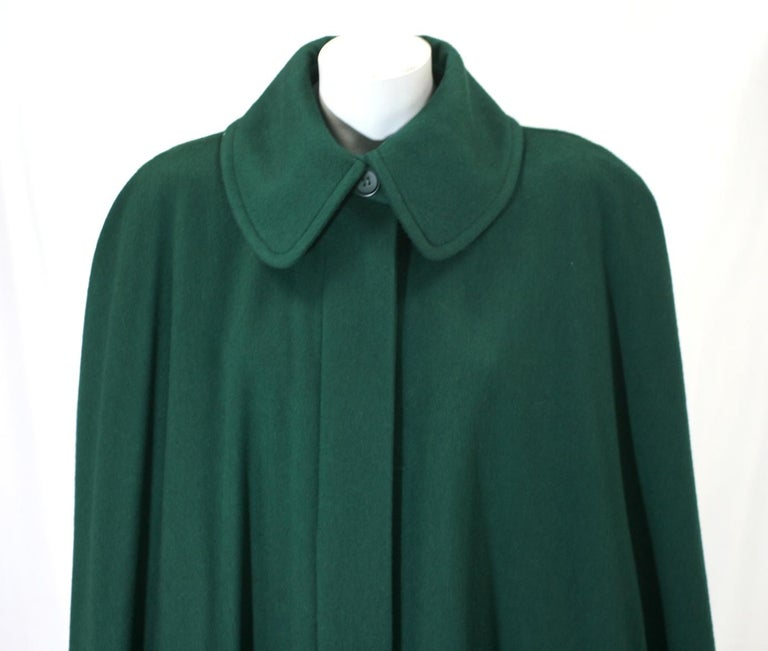 Yves Saint Laurent Wool Melton Cape In Excellent Condition For Sale In Riverdale, NY