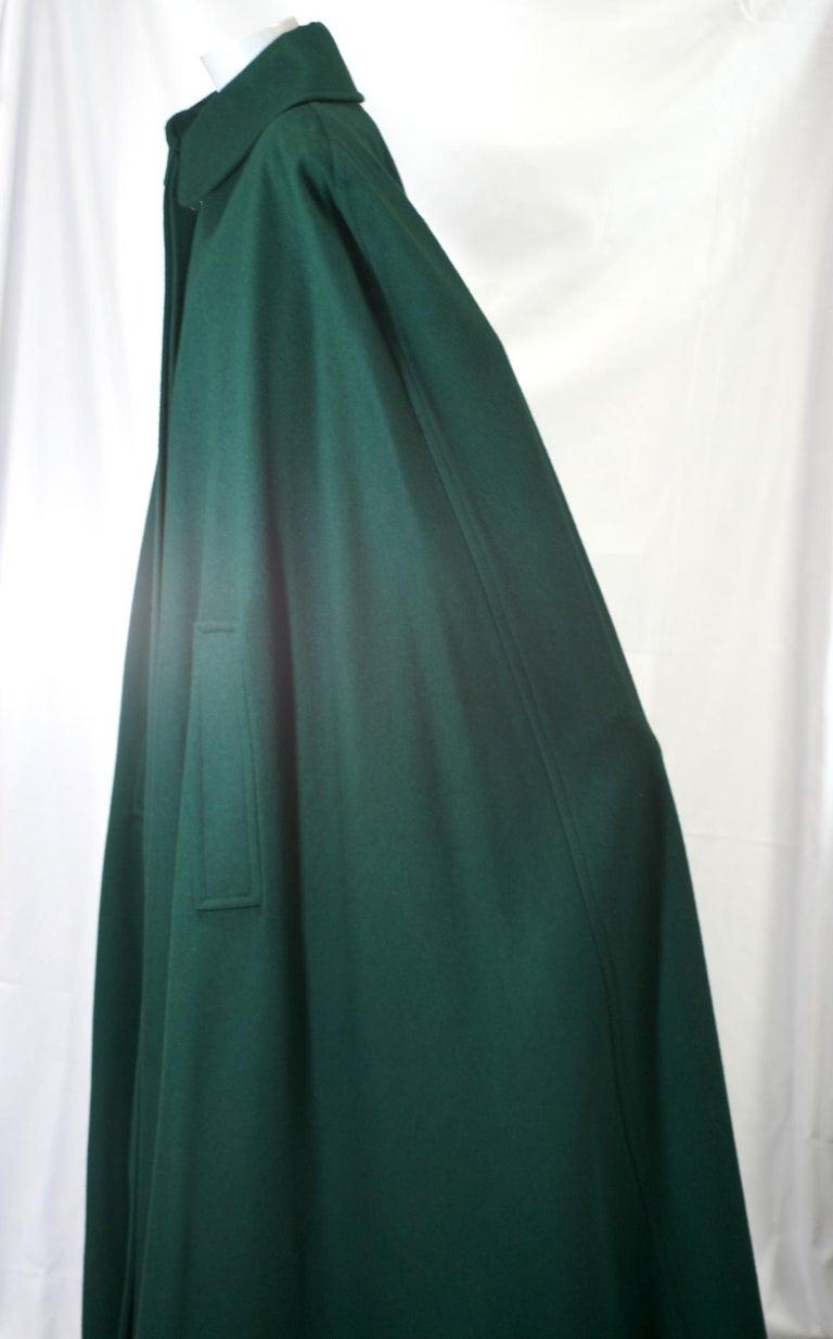Women's or Men's Yves Saint Laurent Wool Melton Cape For Sale