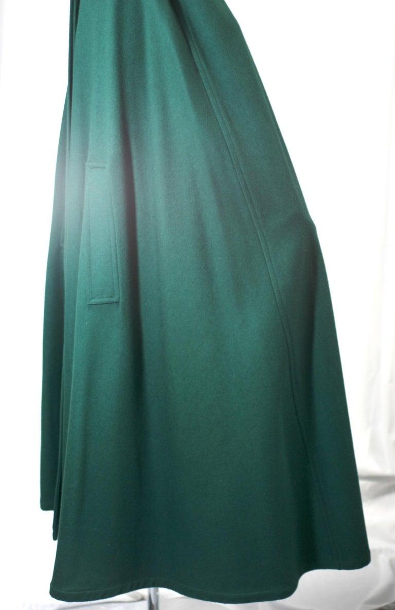 Yves Saint Laurent Wool Melton Cape For Sale 1