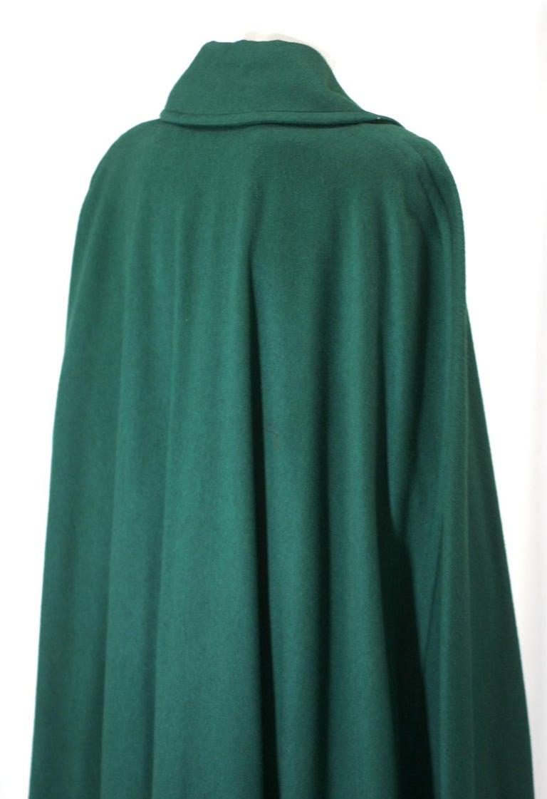 Yves Saint Laurent Wool Melton Cape For Sale 3