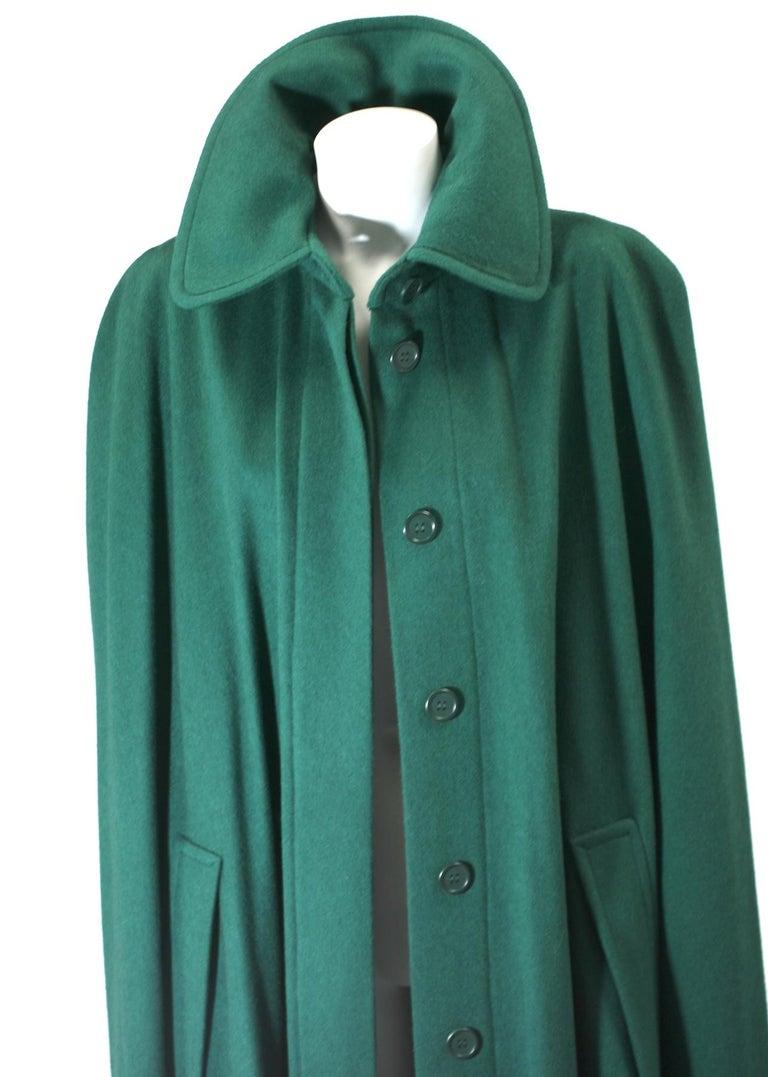 Yves Saint Laurent Wool Melton Cape For Sale 4