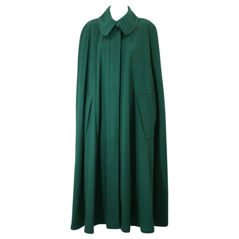 Yves Saint Laurent Wool Melton Cape For Sale