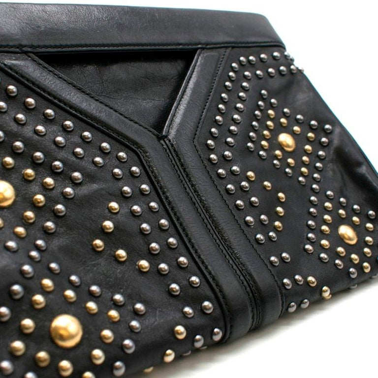 Yves Saint Laurent Y Rock leather clutch For Sale 1