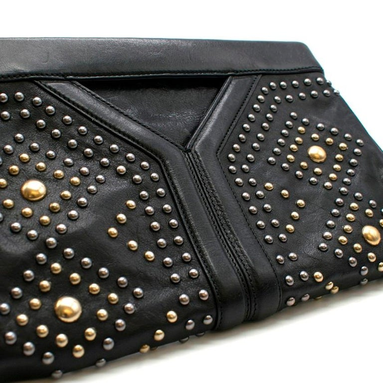 Yves Saint Laurent Y Rock leather clutch For Sale 2