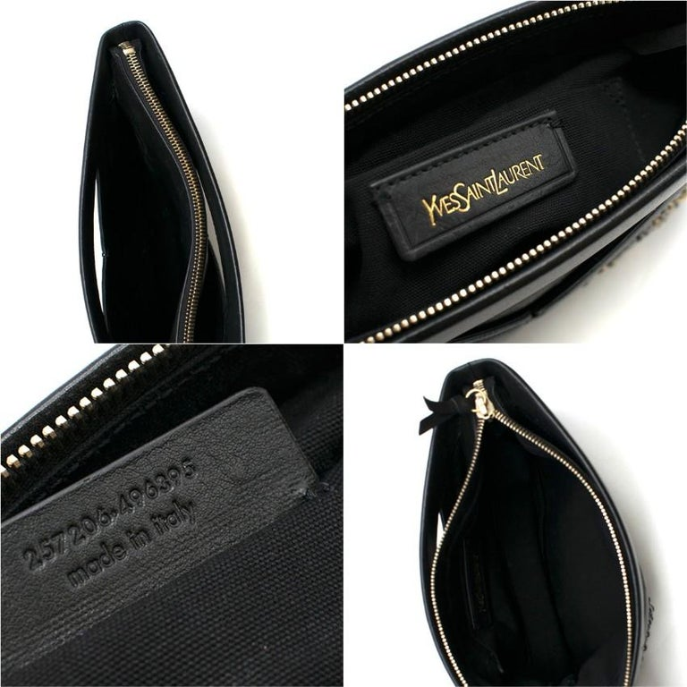 Yves Saint Laurent Y Rock leather clutch For Sale 4