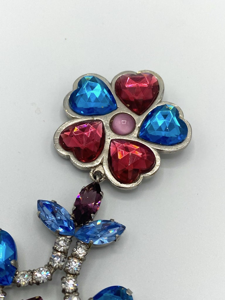 Yves Saint Laurent YSL 1980s Large Brooch In Good Condition For Sale In New York, NY