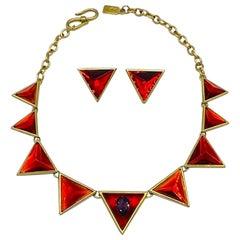 Yves Saint Laurent YSL 1980s Necklace & Earrings