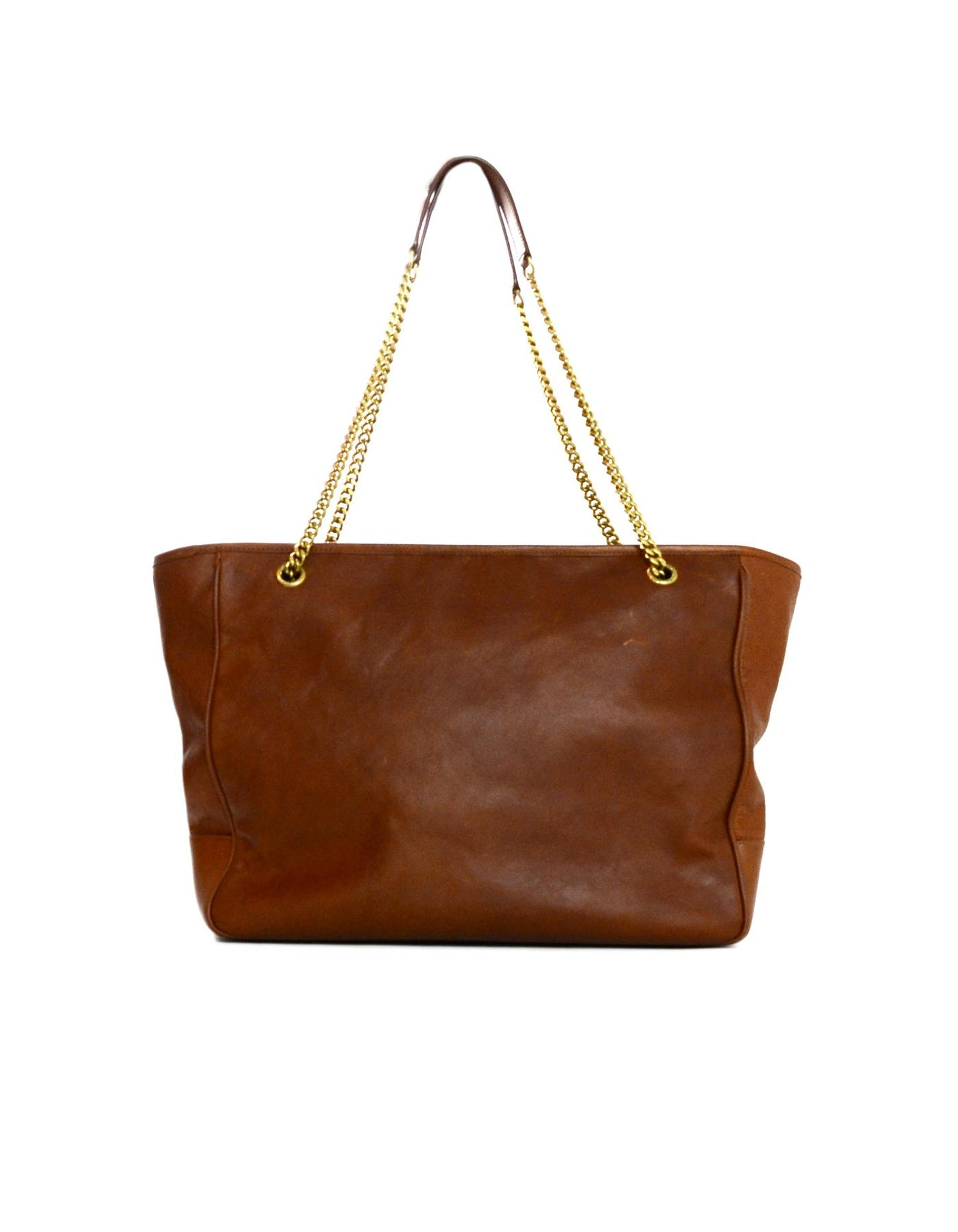 c1d38b7b12a84 Yves Saint Laurent YSL 2018 Brown Leather Niki Large Shopping Tote Bag at  1stdibs
