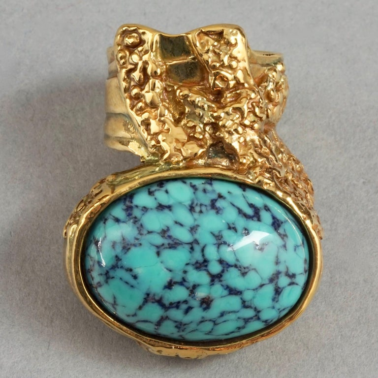 Women's YVES SAINT LAURENT YSL Arty Turquoise Ring For Sale