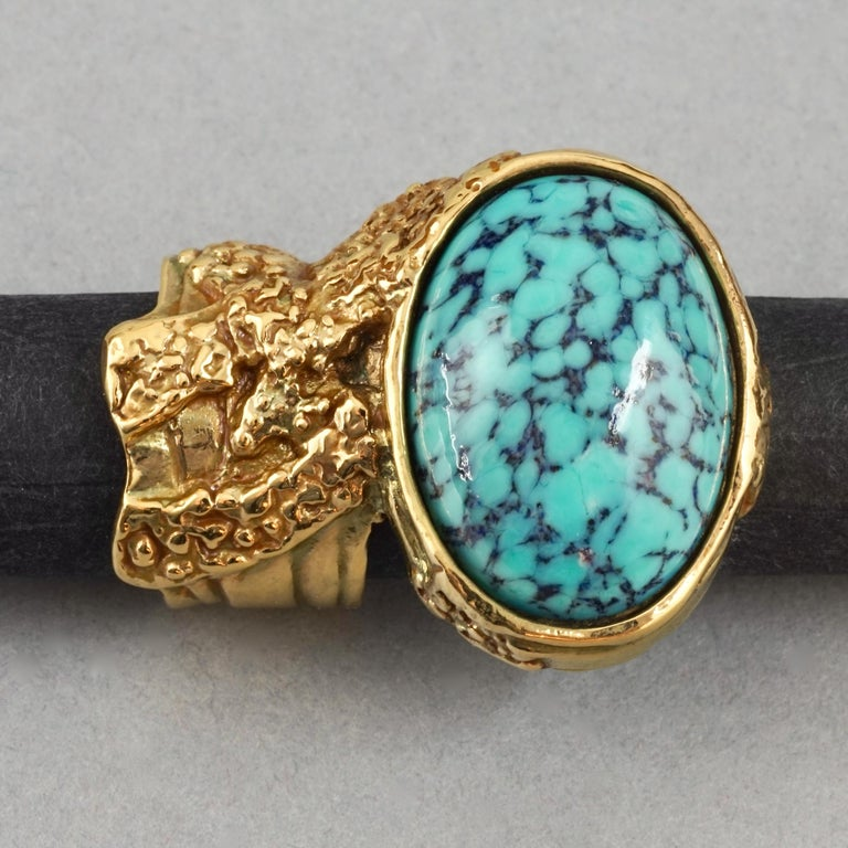 YVES SAINT LAURENT YSL Arty Turquoise Ring For Sale 4
