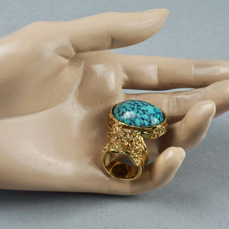 YVES SAINT LAURENT YSL Arty Turquoise Ring For Sale 5