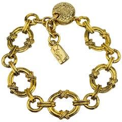 YVES SAINT LAURENT YSL Bracelet Vintage 1980s