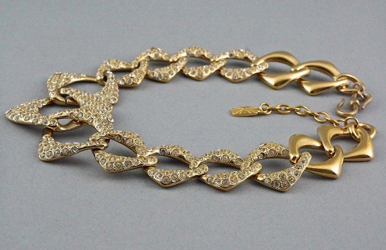 YVES SAINT LAURENT Ysl by Robert Goossens Rhinestone Chain Choker Necklace For Sale 2