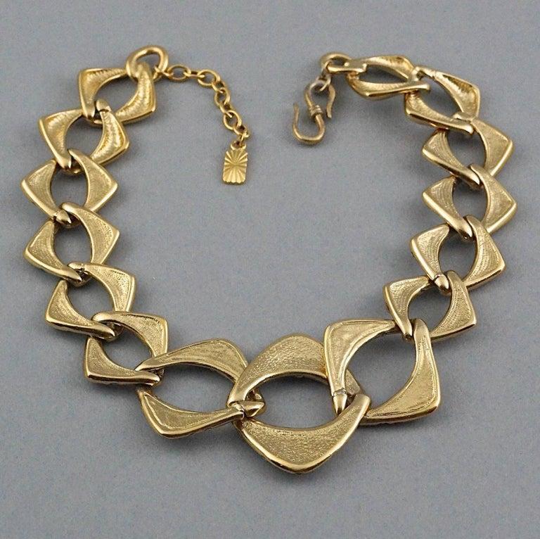 YVES SAINT LAURENT Ysl by Robert Goossens Rhinestone Chain Choker Necklace For Sale 4