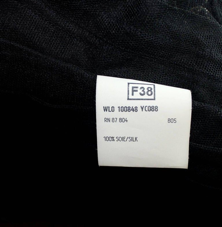 Yves Saint Laurent YSL by Tom Ford 2002 Black Tulle Silk Layer Jacket Top For Sale 3