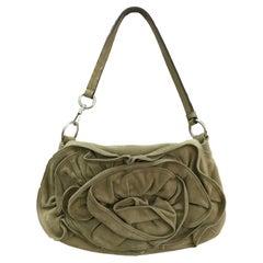 Yves Saint Laurent YSL by Tom Ford Nadja Rose Suede Handbag