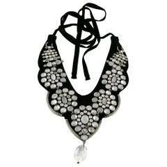 Yves Saint Laurent YSL by Tom Ford Velvet Prisms Rock Crystal Plastron Necklace
