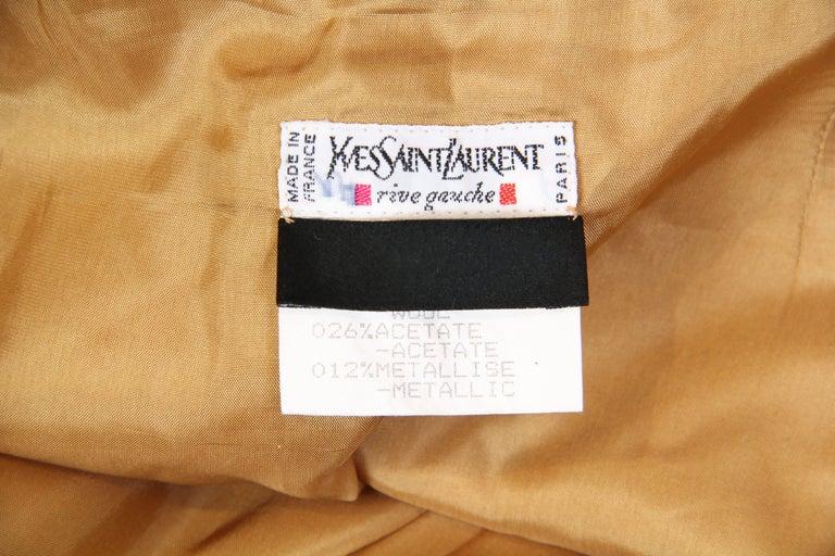 Yves Saint Laurent YSL Gold Lamé Skirt For Sale 6
