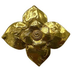 Yves Saint Laurent YSL 1980s Gold Scarf Ring