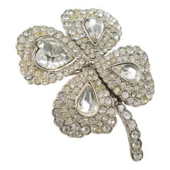 Yves Saint Laurent YSL Jeweled Pin Brooch