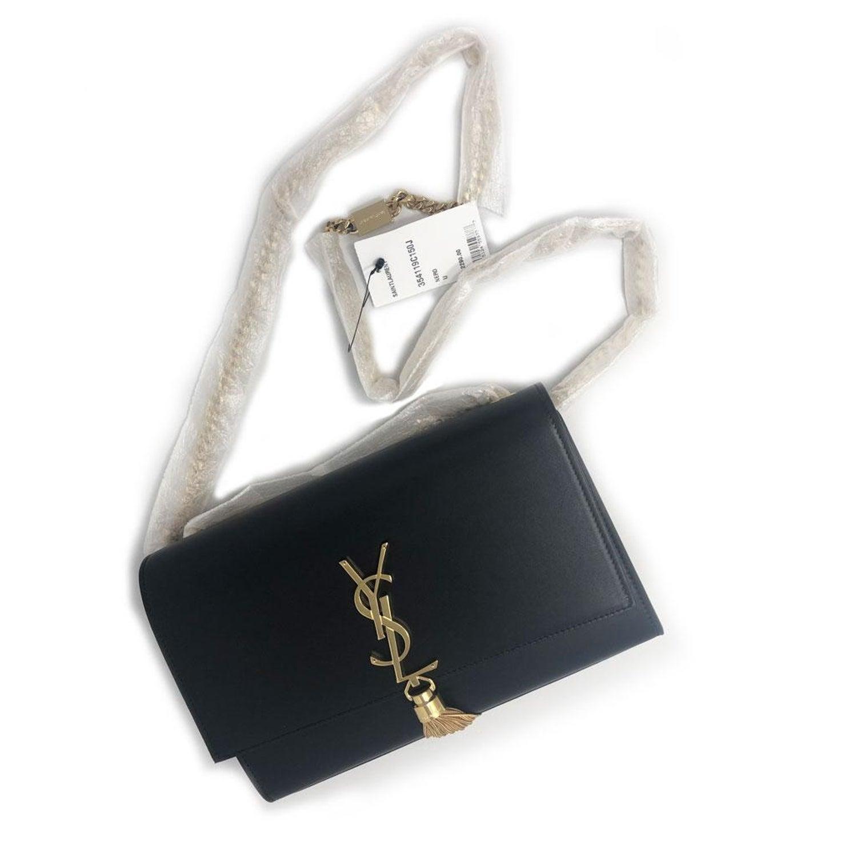 Yves Saint Laurent YSL Kate Medium Black Tassel Bag in Dust Bag at 1stdibs ec5a85779c699