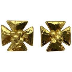 Yves Saint Laurent YSL Large Gold Earrings