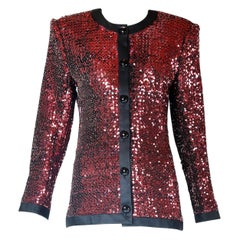 Yves Saint Laurent YSL Sequined Dinner Jacket