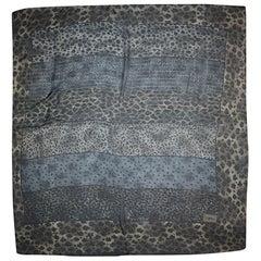"Yves Saint Laurent YSL Sheer Leopard Print Scarf 54"""