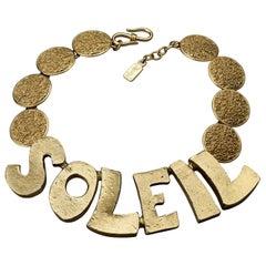 "YVES SAINT LAURENT Ysl ""Soleil""  Textured Disc Choker Necklace by Robert Goossen"