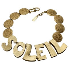 "YVES SAINT LAURENT Ysl ""Soleil""  Textured Disc Choker Necklace by Robert Goossen"