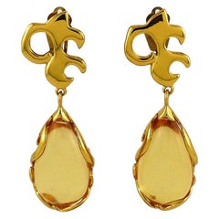 Yves Saint Laurent YSL Vintage Arabesques Dangling Earrings