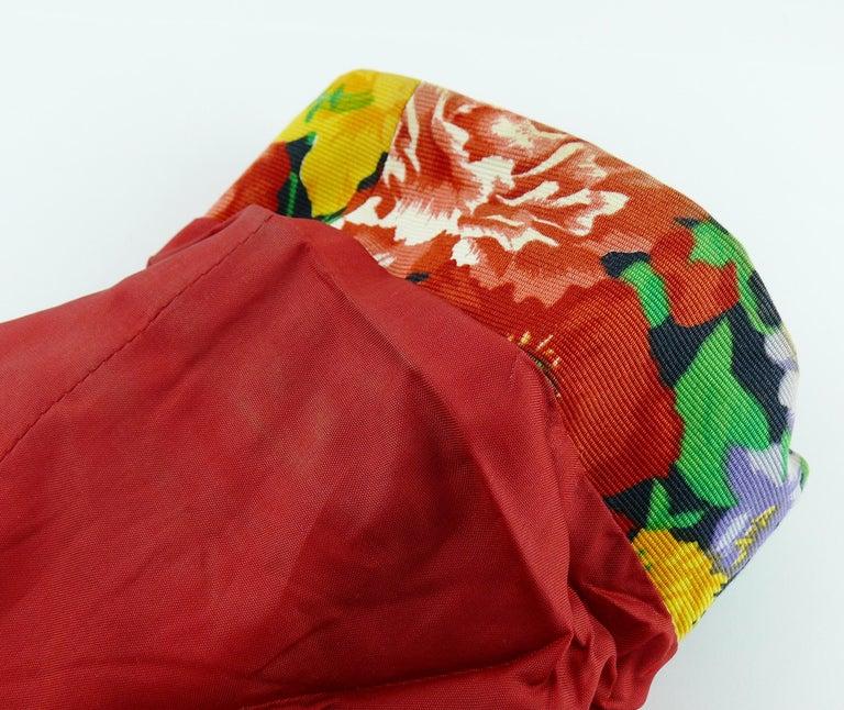 Yves Saint Laurent YSL Vintage Floral Print Skirt Suit Spring/Summer 1992 For Sale 7